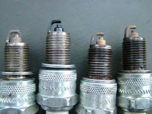 Spark plugs oily residue