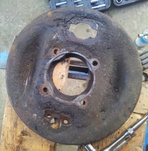 Handbrake drum backplate