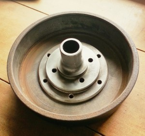 Output flange and brake drum