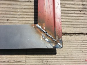 repaired door bottom