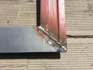 repaired door bottom