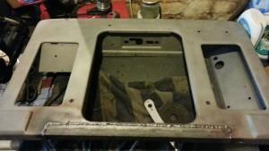 Welding front panel